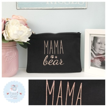 Small Mama Bag - Mama Bear - Black/Rose Gold