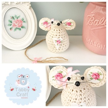 Small Mouse - Ivory/Rose