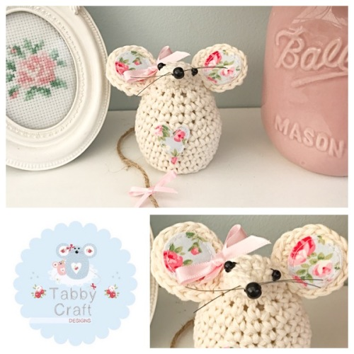 Small Mouse - Ivory/Floral