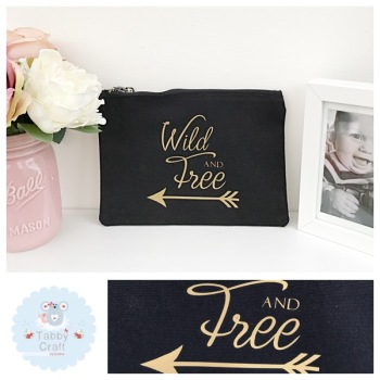 Small Mama Bag - Wild and Free - Black/Rose Gold