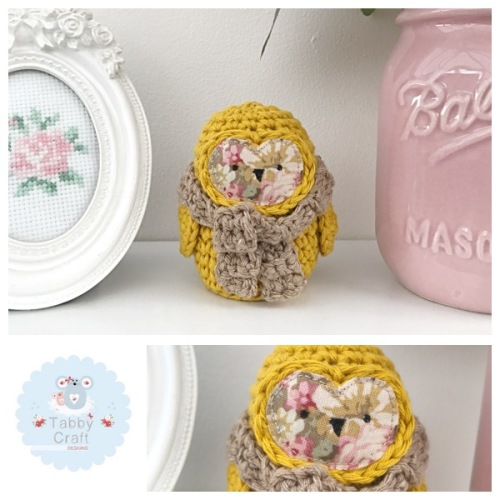 Small Scarf Owl - Mustard/Brown