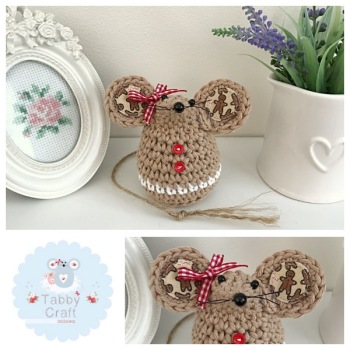Small Gingerbread Mouse - Tan