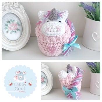 Unicorn Peek-a-Boo Buddy - White and Pink
