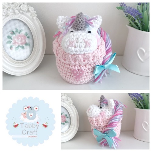 Unicorn Peek-a-Boo Buddy - White and Pink