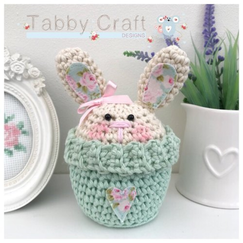 Bunny Peek-a-Boo Buddy - Ivory and Mint