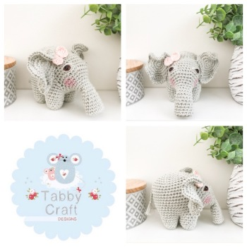 Elephant - Grey and Pale Pink