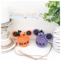 Small Halloween Boo Mouse - Orange or Purple