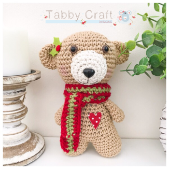 Christmas Scarf Bear