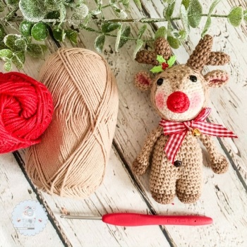 Pre-Order Christmas Reindeer with Bow and Bell