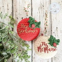 Christmas Bauble Decoration - 8cm