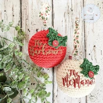 Pre-Order Christmas Bauble Decoration - 8cm