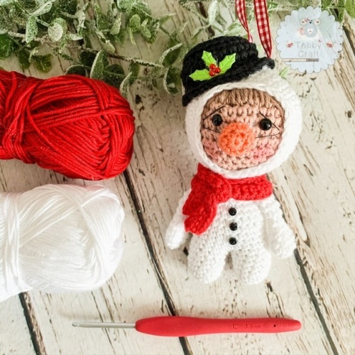 Hanging Christmas Snowman Kid