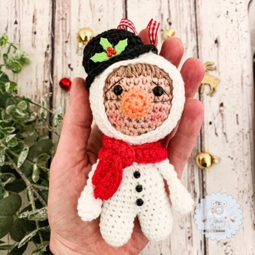 Hanging Christmas Snowman Kid