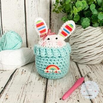 Bunny Peek-a-Boo Buddy - Rainbow