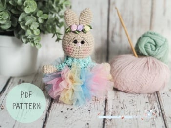 PDF Pattern - Little Bunny with  a Tutu