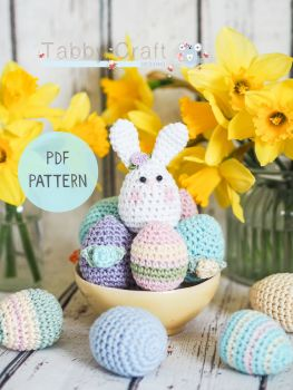 PDF Pattern - Little Bunny and Eggs
