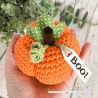 Large Halloween Boo Pumpkin  - Orange