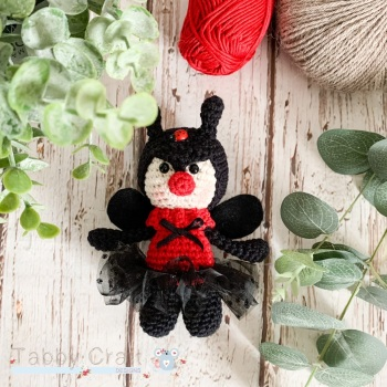 Little Ladybird with Tutu  - Red and Black
