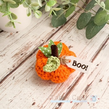 Mini Halloween Boo Pumpkin  - Orange