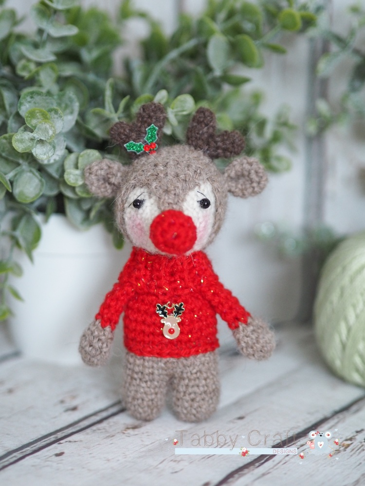 Christmas Reindeer with Rudolph Jumper - Red