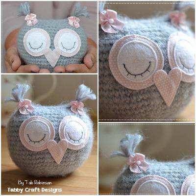 Grey Fluffy Sleeping Baby Owlet