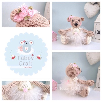 Tutu Skirt Bear - Ivory and Pink