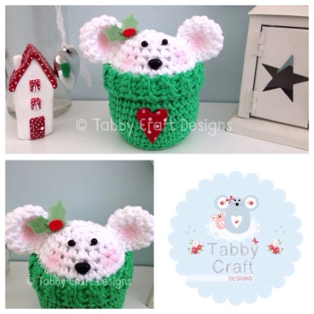 Christmas Polar Bear Peek-a-Boo Buddy - White and Green