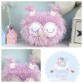 Fluffy Sleeping Baby Owlet - Pinky Lilac