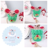 ***PRE-ORDER*** Small Christmas Jump Mouse - Light Brownand Green