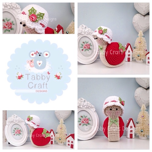 Little Christmas Snail with Hat - Red, White and Green