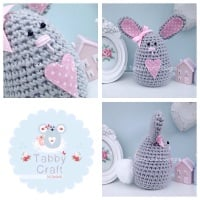 Large Bunny - Grey and Pink