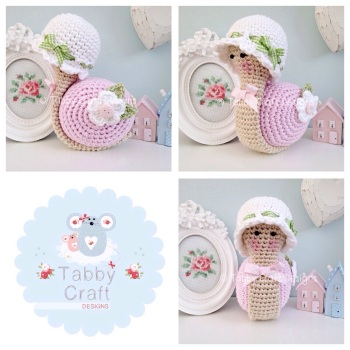Little Snail with Hat - Pink White and Green