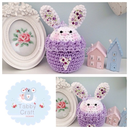 Spring Bunny Peek-a-Boo Buddy - White and Lilac