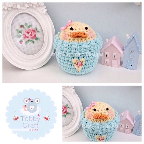 Spring Chick/Duck Peek-a-Boo Buddy - Lemon and Aqua
