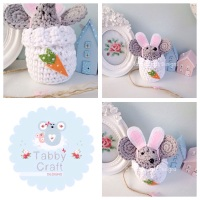 Small Dress Up Bunny Mouse - Grey and White