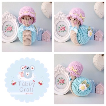 Little Snail with Hat - Pink and Aqua