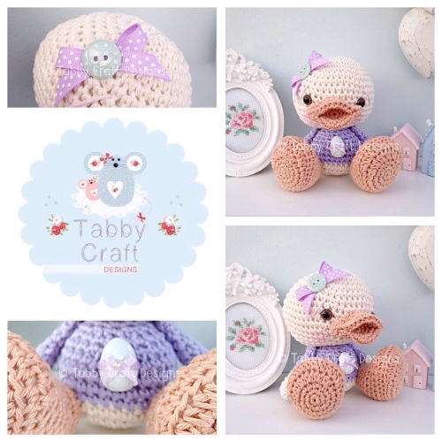 Duckie with Easter Egg Jumper - Ivory and Lilac