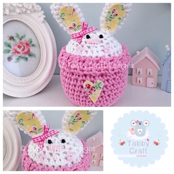 Bunny Peek-a-Boo Buddy - White and Pink