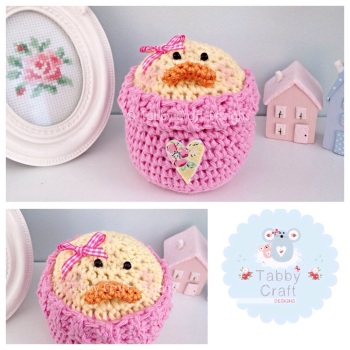 Chick/Duck Peek-a-Boo Buddy - Lemon and Pink