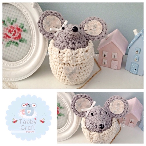 Small Jumper Mouse - Ivory and Grey