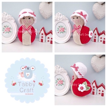 Little Snail with Hat - Red and White