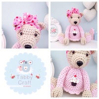 Large Cupcake Teddy Bear - Beige and Pink
