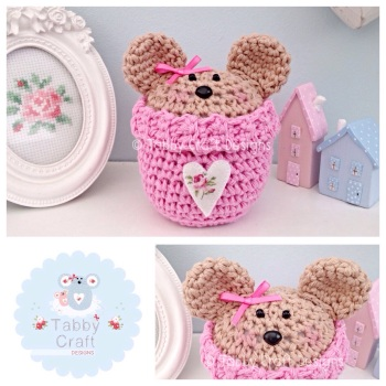 Bear Peek-a-Boo Buddy - Pink and Tan