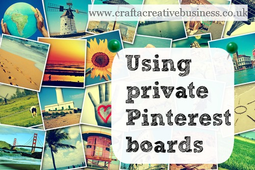 Using private Pinterest boards