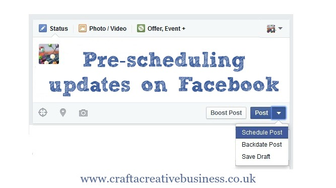 How to schedule posts on your business Facebook page