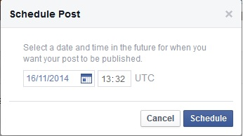 Scheduling posts on your business Facebook page