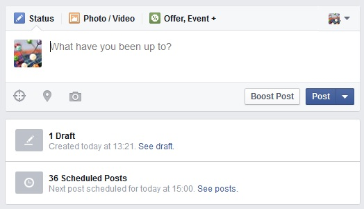 Where to find your scheduled posts on Facebook