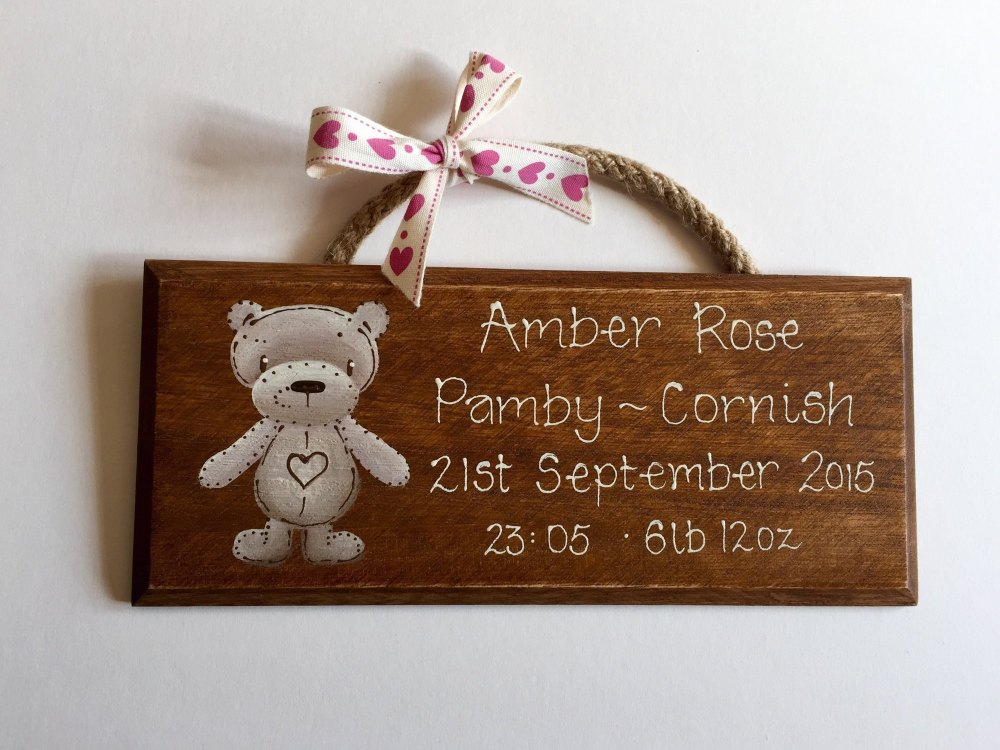 Baby Birth Plaque...