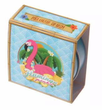 Flamingo Lip Balm Tin (Pina Colada)