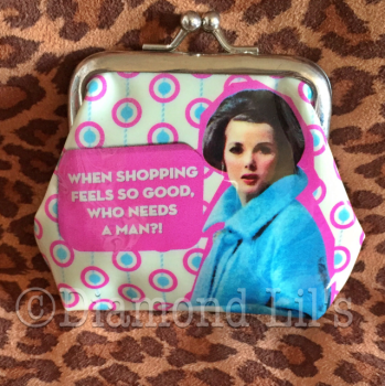 'When Shopping Feels....' Coin Purse
